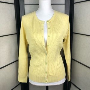 Pale Yellow Cardigan